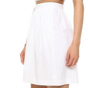 Theory Palatial Gelda Midi Skirt in White